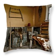 Cowboy Corner Throw Pillow