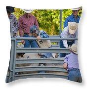 Cowboy Countdown Throw Pillow