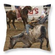 Cowboy Hang On Throw Pillow