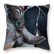 Cowboy Hat And Cowgirl Boots Throw Pillow