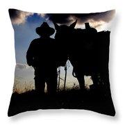 Cowboy Silhouette Throw Pillow