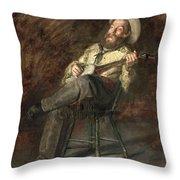 Cowboy Singing Throw Pillow