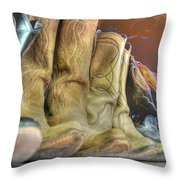 Cowboy Soul Throw Pillow