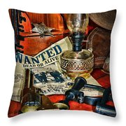 Cowboy - The Sheriff Throw Pillow