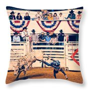 Cowboy Up Throw Pillow by Charles Dobbs