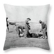 Cowboys, 1888 Throw Pillow
