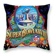 Cowboys Back To Back Throw Pillow