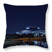 Cowboys Stadium Game Night 1 Throw Pillow