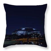 Cowboys Stadium Game Night 2 Throw Pillow