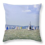 Cowes Week Isle Of Wight Throw Pillow