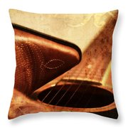 Cowgirl Boots And Country Music Throw Pillow