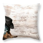 Cowgirl Boots Throw Pillow