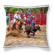 Cowgirl Gotcha Throw Pillow