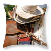 Cowgirl Hats Throw Pillow