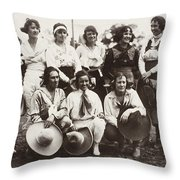 Cowgirls, 1910 Throw Pillow
