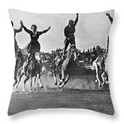 Cowgirls At The Rodeo Throw Pillow