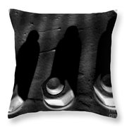 Cowled Shadows Throw Pillow