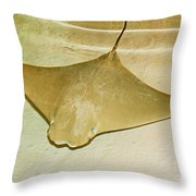 Cownose Ray Throw Pillow