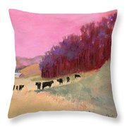 Cows 3 Throw Pillow