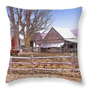 Cows At Jenne Farm Throw Pillow