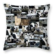 Cows Collage Throw Pillow