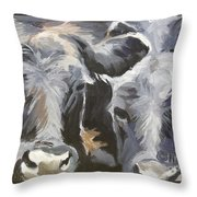 Cows In Waiting Throw Pillow