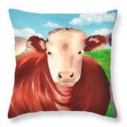 Cows Out To Pasture Throw Pillow