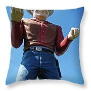 Cowtown Cowboy Throw Pillow