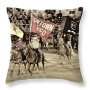 Cowtown Grand Entry Throw Pillow