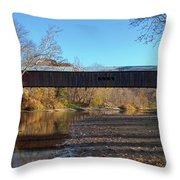 Cox Ford Bridge Throw Pillow