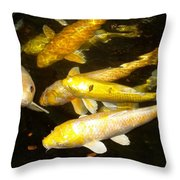 Coy Koi Throw Pillow