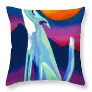 Coyote Azul Throw Pillow