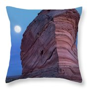 Coyote Buttes Moonrise Throw Pillow