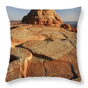 Coyote Buttes Rock Formation Throw Pillow