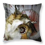 Coyote Headdress 1 Throw Pillow