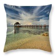 Cozumel Beach Paradise Throw Pillow