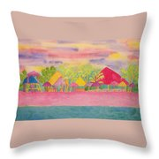 Cozumel Kaleidoscope Throw Pillow