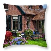 Cozy Corner. Giethoorn. Netherlands Throw Pillow