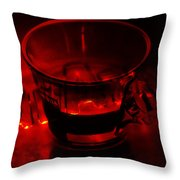 Cozy Evening Cup Of Coffee Throw Pillow by Jenny Rainbow