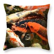 Cozy Koi Throw Pillow