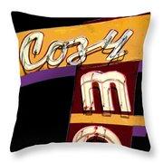 Cozy Mo - Black Throw Pillow