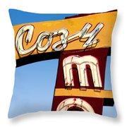 Cozy Mo - Blue Throw Pillow
