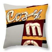 Cozy Mo - Gray Throw Pillow