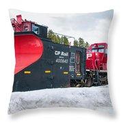 Cp Rail Plow Throw Pillow