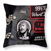 Cpr - Christian Prayer Riders Throw Pillow