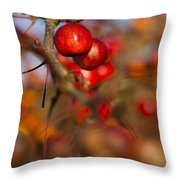 Crab Apple Bright Throw Pillow