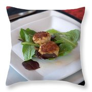 Crab Cakes Throw Pillow