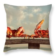 Crab Dance Throw Pillow