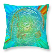 Crab In Plastic Wrap Abstract Throw Pillow
