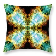 Crab Nebula V Throw Pillow